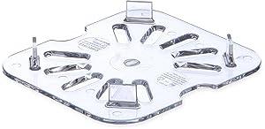 Carlisle 3068907 StorPlus Sixth Size Polycarbonate Drain Shelf, Clear (Pack of 6)