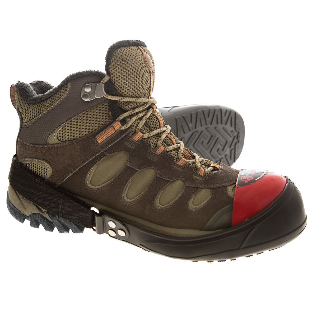 Impacto T2GUM Toes2Go Protective Safety Boot and Shoe Covers, Medium, Red by Impacto (Image #2)