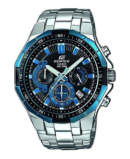 Casio Reloj Analogico para Hombre de Cuarzo con Correa en Acero Inoxidable EFR-554D-1A2VUEF: Amazon.es: Relojes