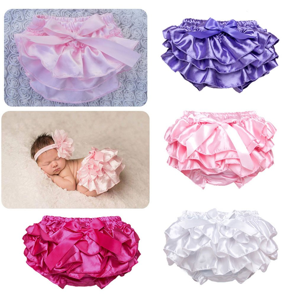Rose 12-24M Homyl Ruffle Stain Baby Bloomers Newborn Girls Solid Infant Baby Shorts Diaper Cover