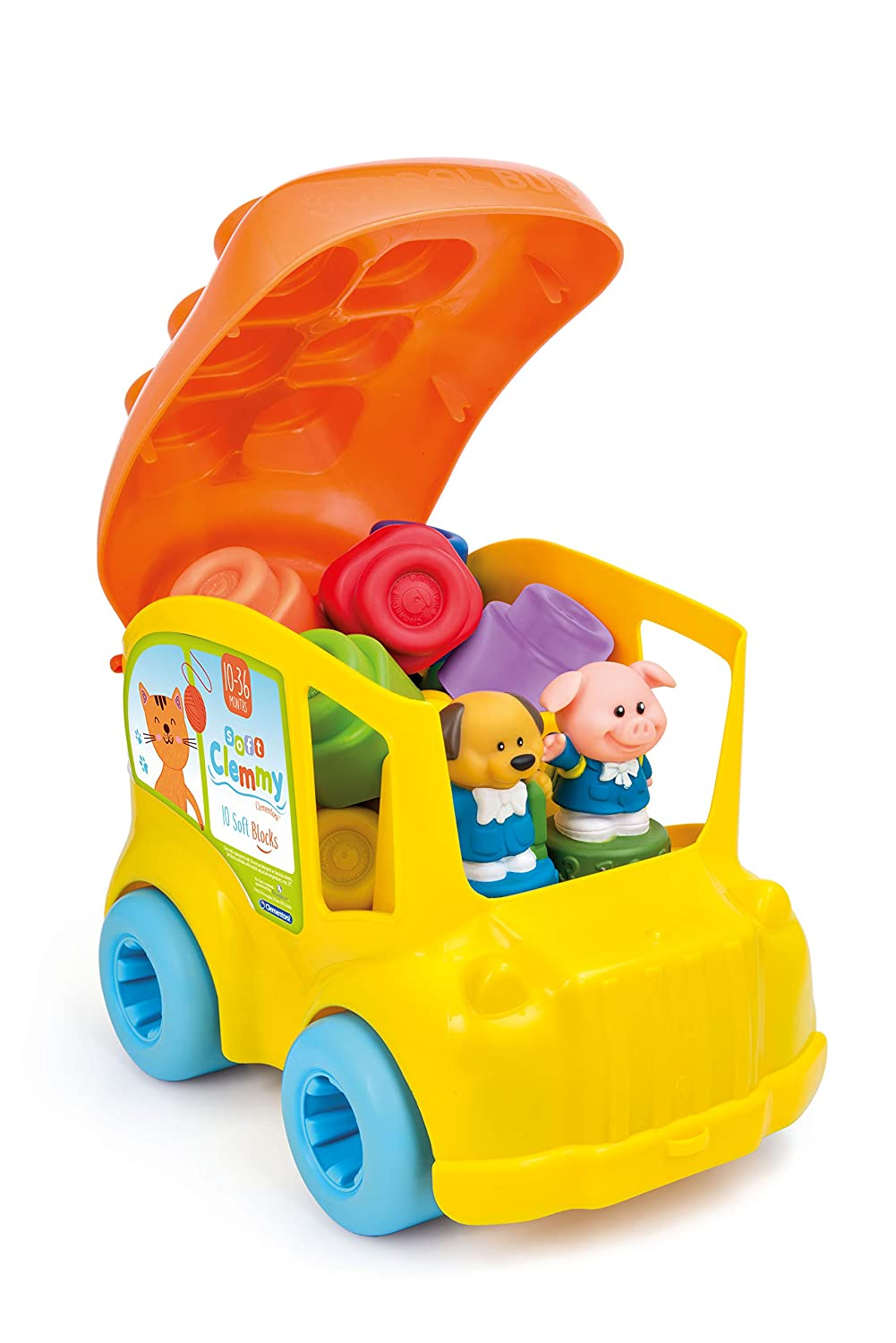 Clementoni Clemmy School Bus with 10 Soft Blocks Creative Toy Company 14783