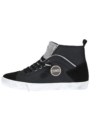 COLMAR Durden Colors 043 sneakers hi uomo PELLE BLACK GRAY NERO Inverno 2018