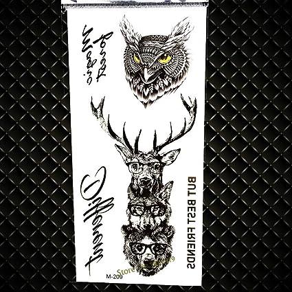 GVDTYKJF Tatuajes Temporales Nuevo Arte Corporal Tatuajes 3D ...