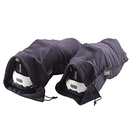 f4c3d28f95c7 Lewis N. Clark Drawstring Bag Nylon Shoe Covers for Travel, Women & Men, 2  pair, Charcoal/Black