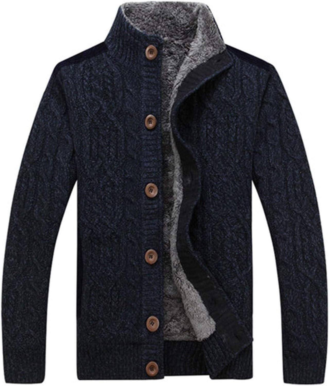 Mens Sweaters for Winter Thick Velvet Sweatercoat Single