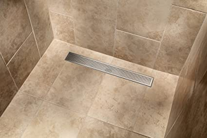 MSLD-SP30 30-in Square Hole Punch Linear Shower Drain - - Amazon.com