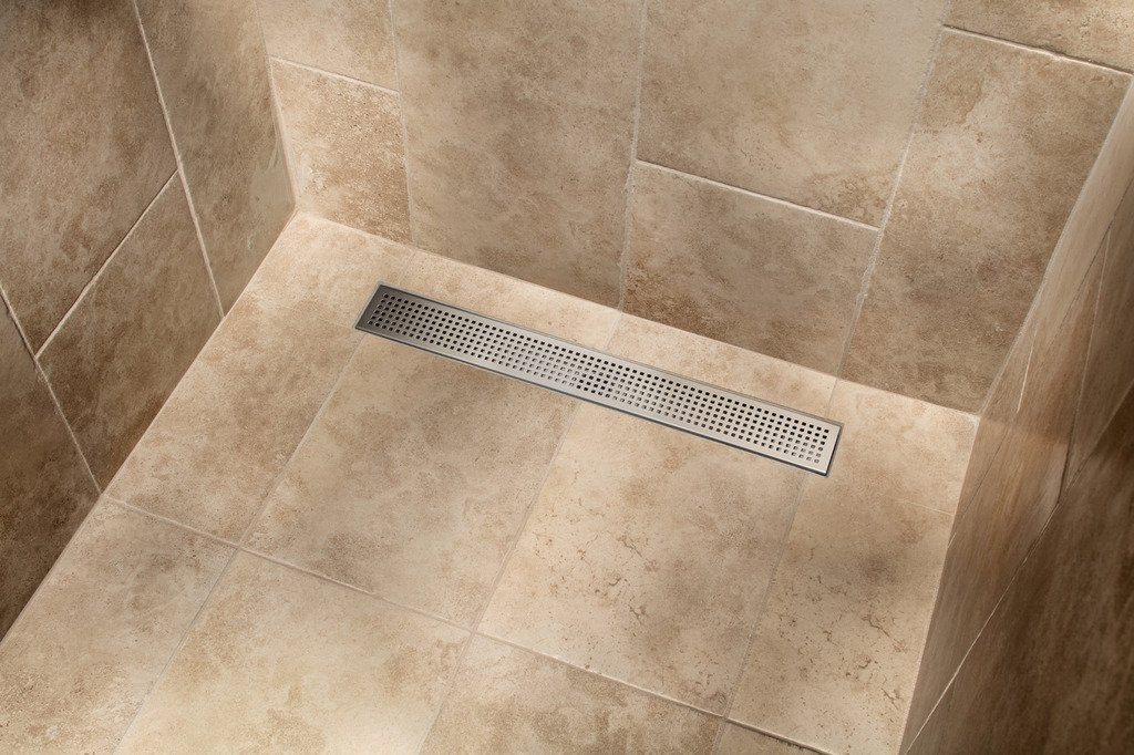 MSLD-SP26 26-in Square Hole Punch Linear Shower Drain