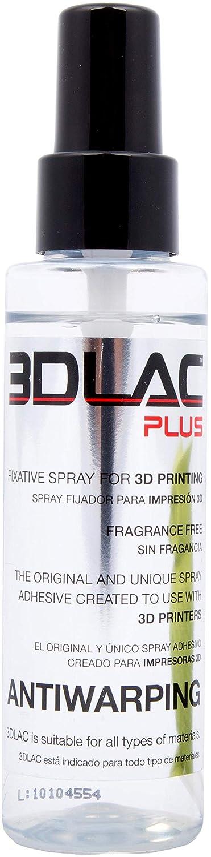 3DLAC Plus 3D Impresora adhesiva y spray antideformación: Amazon ...