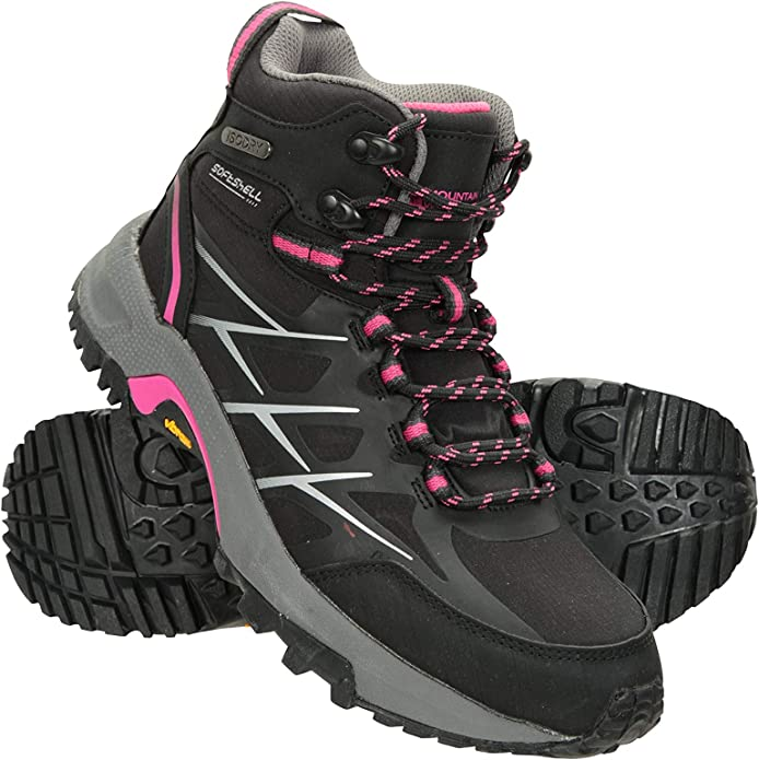 Best for Travelling Durable Ladies Hiking Shoes Cushioned Footbed Camping Footwear Mountain Warehouse Odyssey Extreme Waterproof Womens Vibram Boots Trekking