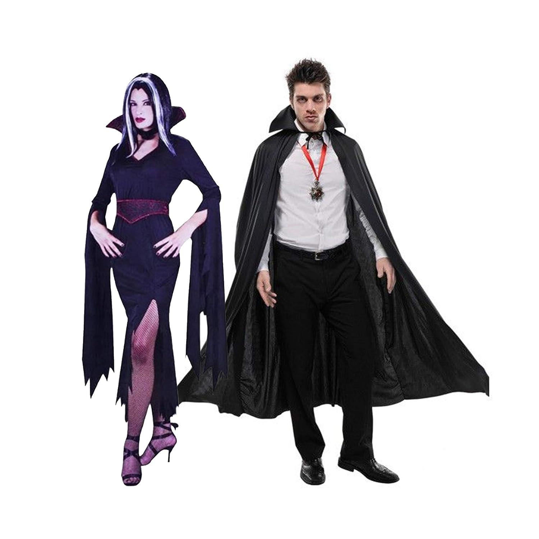 Vampire Couple Halloween Costumes.Halloween Couples Costume Men And Women Vampire Costume For Couples Dracula And Vampiress Black Amazon In Clothing Accessories
