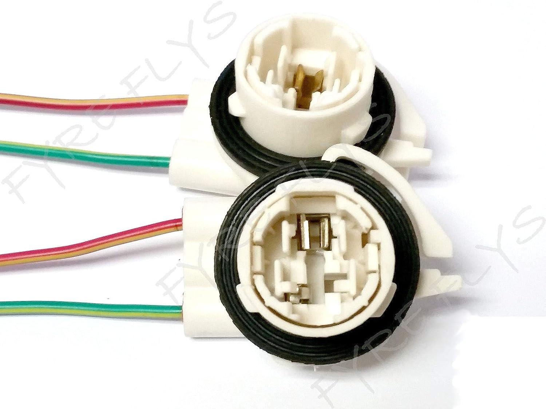 3156 Bulb Socket DRL Brake Turn Signal Light Harness Wire LED Pig Tail Plug GM