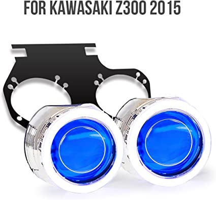 KT Tailor-Made HID Projector Kit HP24 for Kawasaki Z300 2015 2016+ Blue Demon Eye