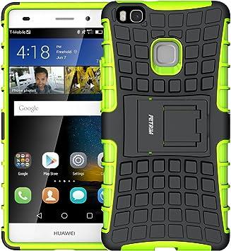 Fetrim Custodia Huawei P9 Lite, cover supporto anti Case, TPU Plastica Bumper Rugged armatura ultra protezione Copertura Cassa Shell Caso per Huawei ...