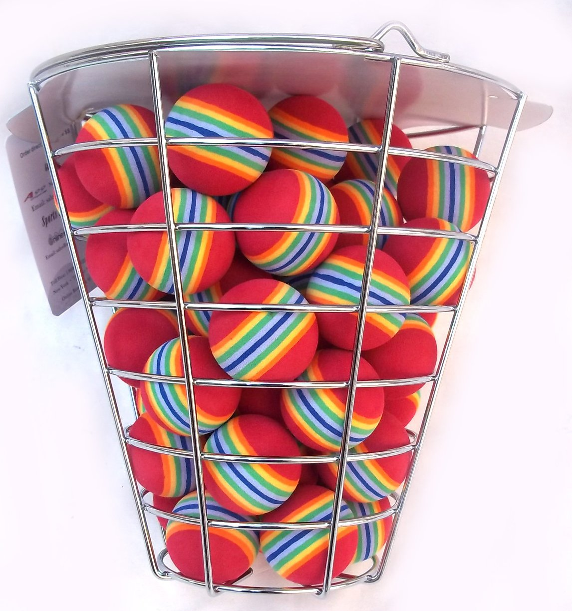 A99 Golf Rainbow Foam Ball Practice 50 Pcs with Bucket by A99 Golf (Image #2)