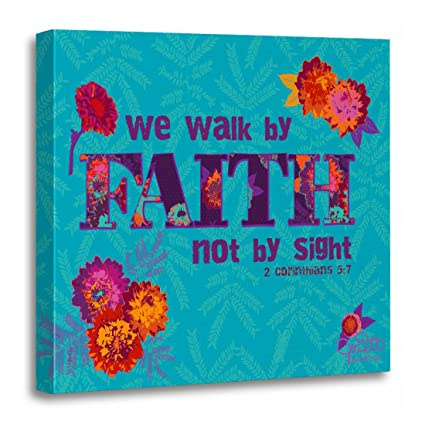Amazon.com: TORASS Canvas Wall Art Print Teal Corinthians Walk By ...