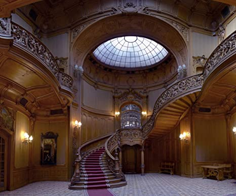 Escaleras de Castillo Vintage para Interiores o Bodas, 10 x 8 pies, Fondos de fotografía, Antiguos, de Cristal Tintado, Ventana de Madera Trenzada para Escalera, Fondos para Estudio fotográfico: Amazon.es: Electrónica