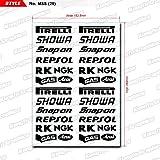 KUNGFU GRAPHICS カンフー グラフィックス SHOWA レーシングスポンサーロゴ マイクロデカールシート(ホワイト)