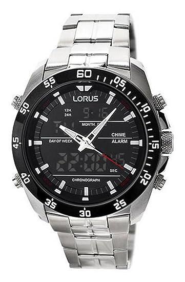 Lorus Reloj analogico para Hombre de Cuarzo con Correa en Acero Inoxidable RW611AX9: Amazon.es: Relojes
