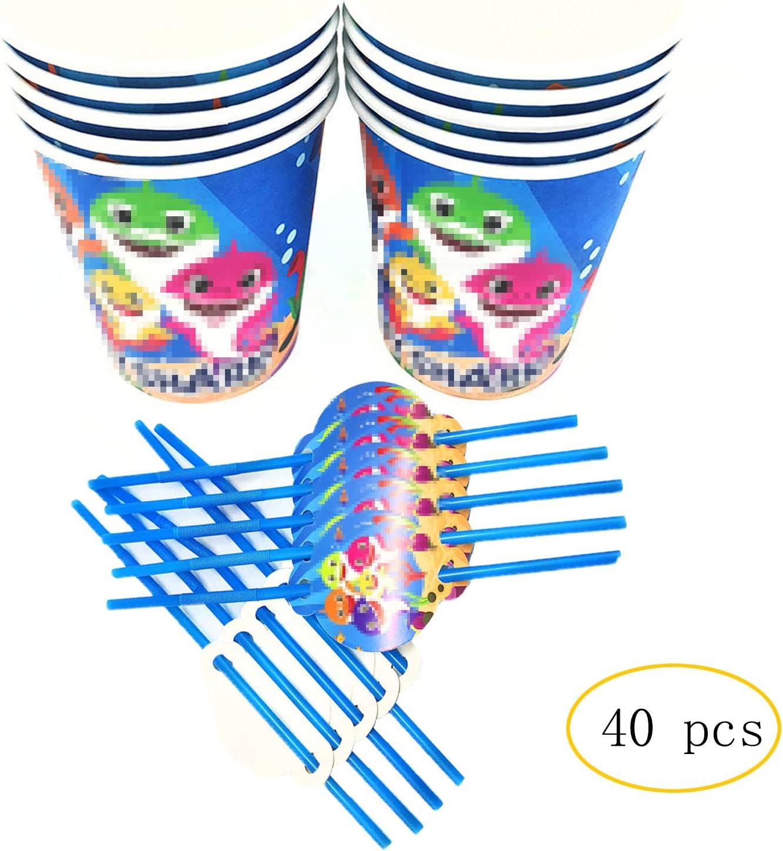Shark Disposable Cups 9oz Paper Cups 20 pcs Party Favor Party Brithday Decorations Party Supplies