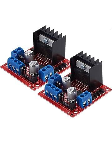 PChero 2Packs L298N - Módulo controlador de unidad de motor, doble puente H DC Stepper