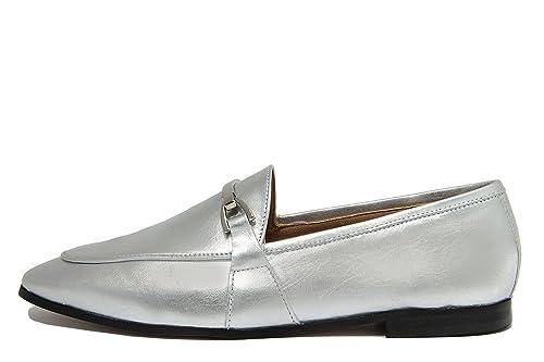 EJE Mocasines de Piel Lisa Para Mujer Plateado Plata, Color Plateado, Talla 38 EU: Amazon.es: Zapatos y complementos