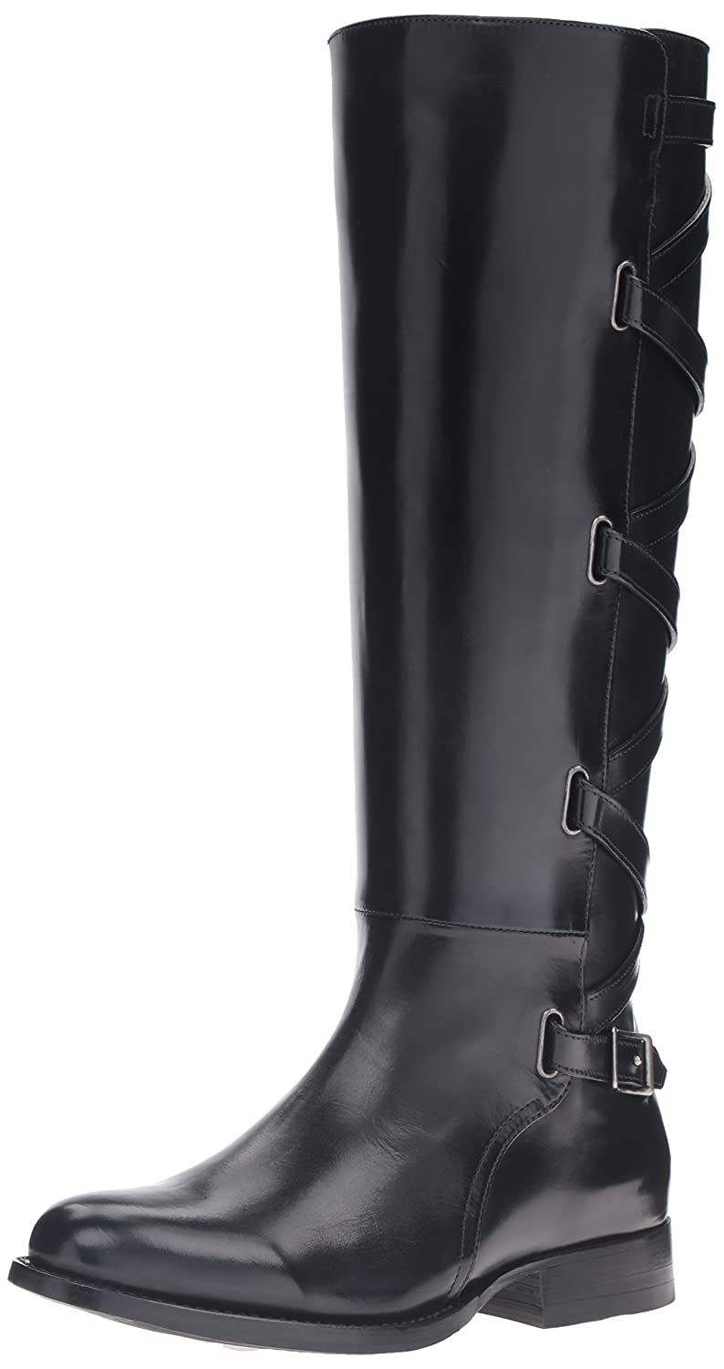 FRYE Women's Jordan Strappy Tall Riding Boot B01BLZ24OW 8.5 B(M) US|Black