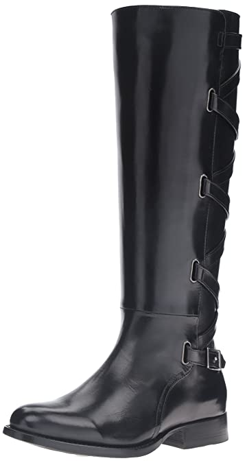 FRYE Womens Jordan Strappy Tall Riding Boot       Black