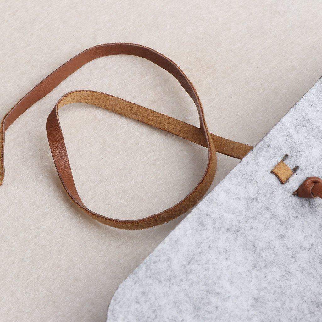 Cold Toy Graue Filz-Sonnenbrille-Beutel-F/älle bewegliche weiche Glas-Paket-Zusatz-Gurt-Schlie/ßung