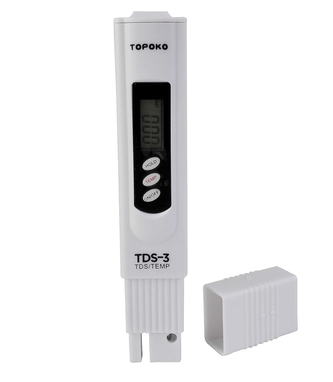 LCD pluma de prueba de agua de pantalla dual Digital medidor de TDS calidad del agua 3 Botones, para agua potable, Acuario, piscinas, hidroponía, SPA, ...