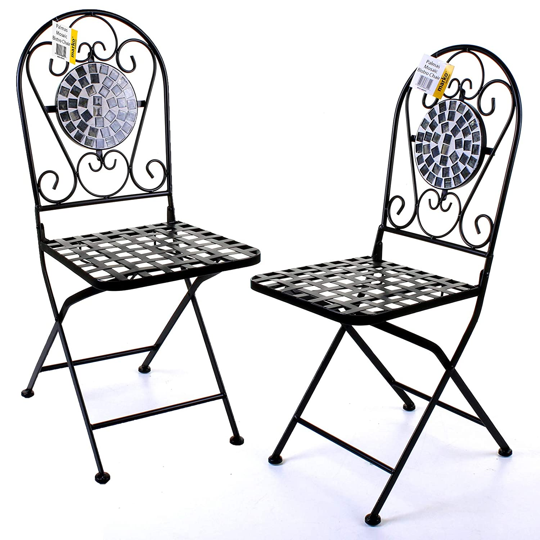 Marko Outdoor - Juego de 5 sillas Plegables de Mesa Redonda ...