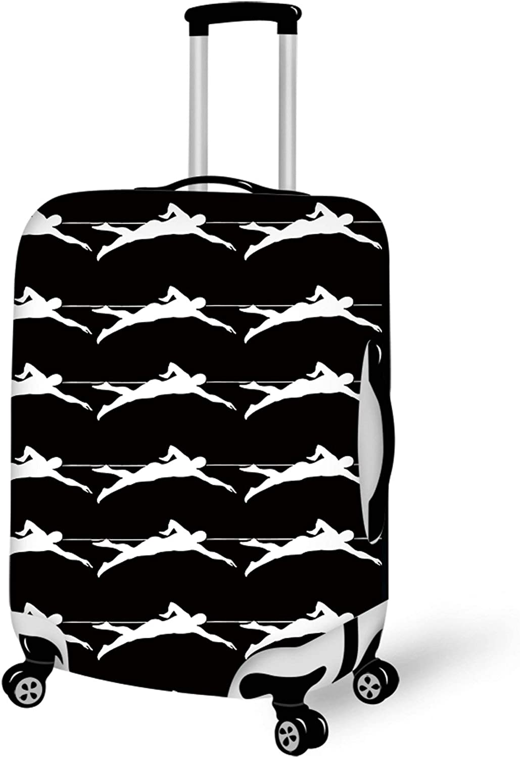 Travel Luggage Cover Suitcase Protector Fits 22-24 inch Luggage Swimmer