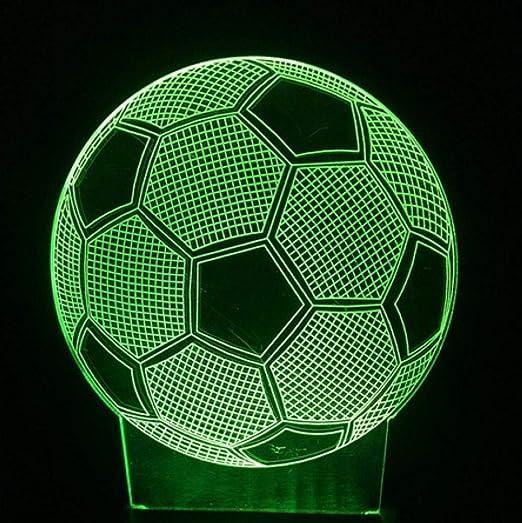 3D Fútbol Fútbol LED Decoración Niño Lámpara de sueño Sensor ...