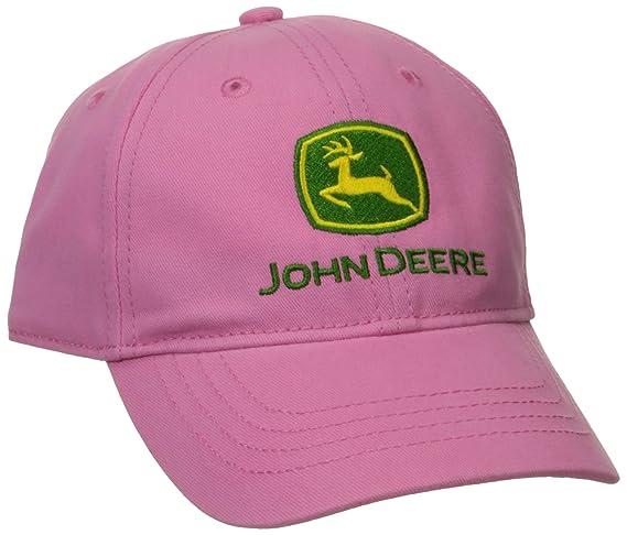 09c789a6 Amazon.com: John Deere Little Girls' Trademark Baseball Cap, Pink, Toddler:  Clothing