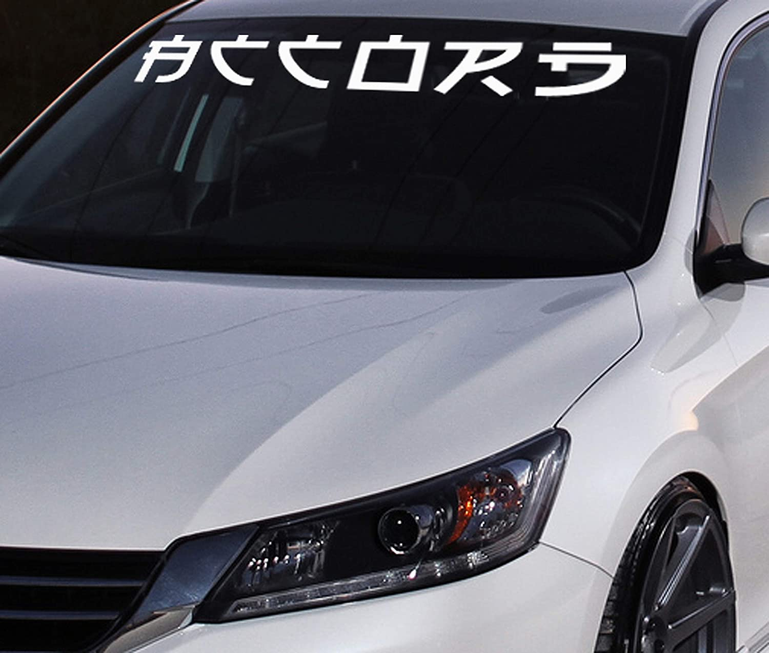 Amazon com honda accord chinese letter windshield banner vinyl decals stickers handmade