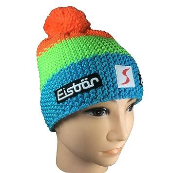 Eisbär Star Neon Pompom Sp Hat in Blue Green Orange With Orange Bobble Hat   Amazon.co.uk  Sports   Outdoors 07d92279c973