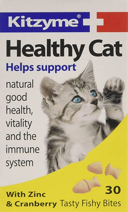 Kitzyme Tabletas saludables para Gatos con Zinc y arándano, 30 tabletas: Amazon.es: Productos para mascotas