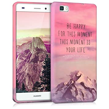 orologio 4db77 13225 kwmobile TPU Silicone Case for Huawei P8 Lite (2015) - Soft Flexible Shock  Absorbent Protective Phone Cover - Light Pink/Violet/Coral