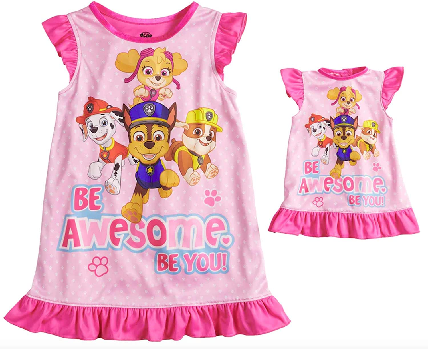 """Ruble and Marshall Paw Patrol snug fit pjs /""""Cute/"""" with Skye"""