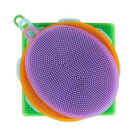 Küchenschwamm Silikon | Mehrzweck Silikonschwamm Antibakteriell & Wiederverwendbar | Ideal für Küche & Bad | Putzschwamm Alte