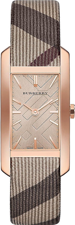 BURBERRY bu9408de mujer reloj de pulsera cuadrada, carcasa, color rojo dorado