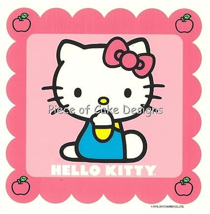 Hello Kitty rosa Cumpleaños ~ Comestible imagen Pastel ...