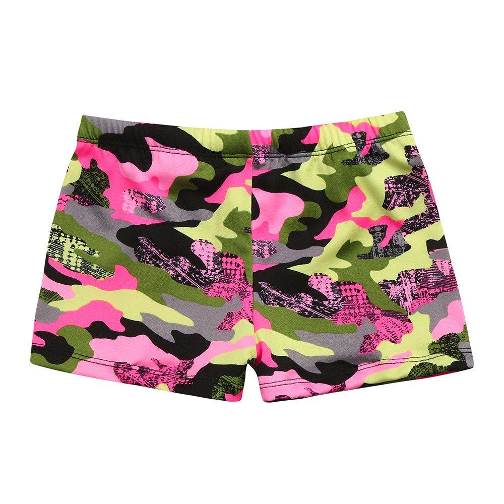 Vovotrade Kids Baby Boys Swim Trunks Camouflage Stretch Beach Running Surfing Sports Shorts(Camouflage, XL)