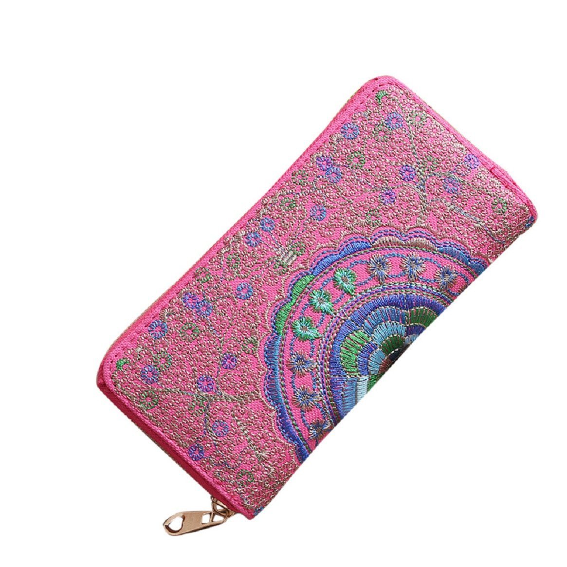 Women Embroidery Oxford Card Holder Wallet by Coerni