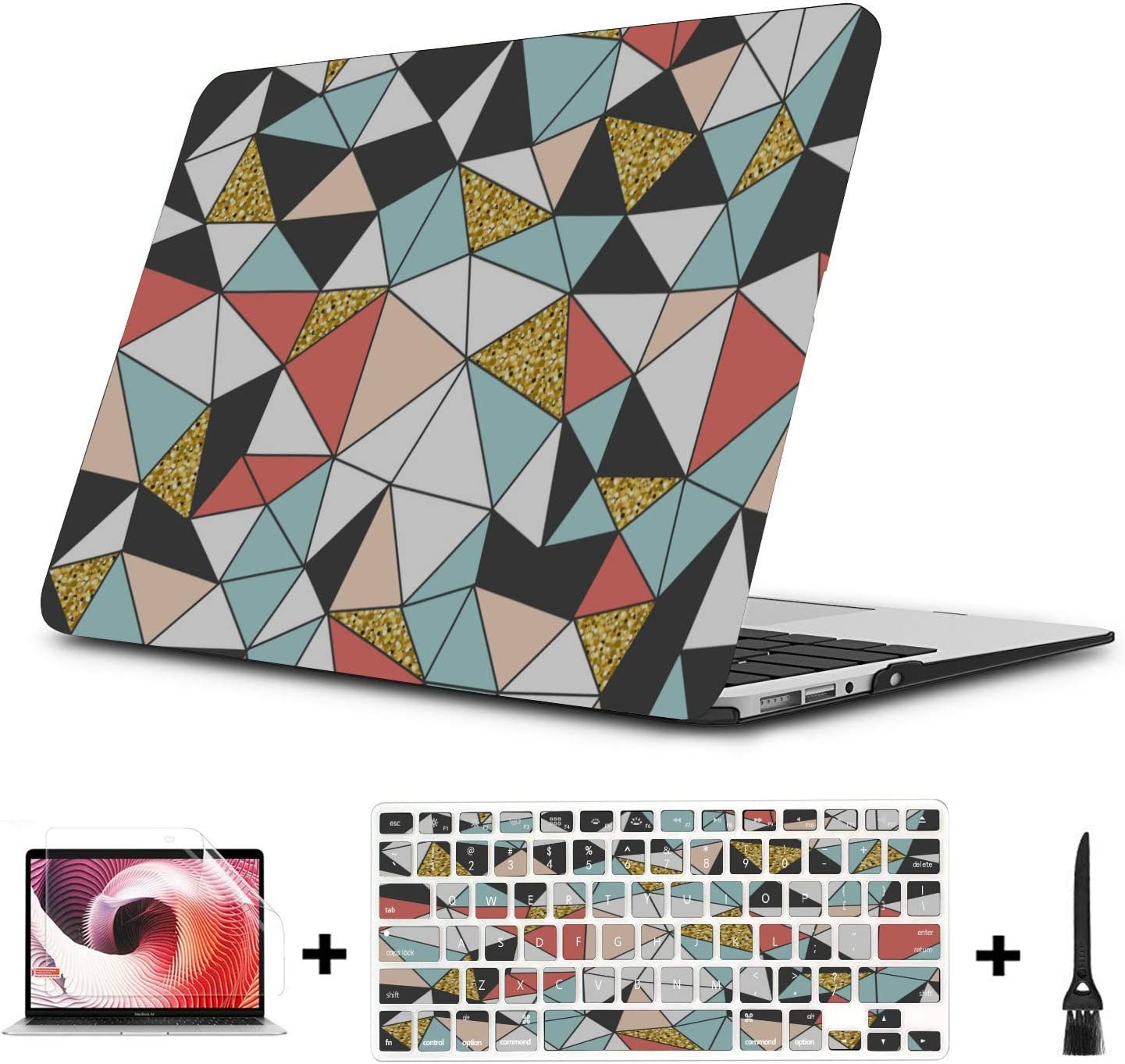 A1708 MacBook Pro Case Shining Colorful Romantic Art Gift Plastic Hard Shell Compatible Mac Air 11 Pro 13 15 13 MacBook Pro Case Protection for MacBook 2016-2019 Version