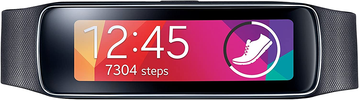 B00JBJ3JBI Samsung Gear Fit Smart Watch, Black (US Version) 71HpRdvBjJL