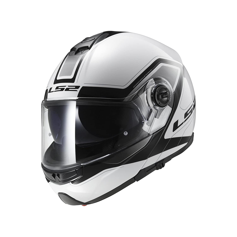 Tama/ño XL LS2 503252002XL FF325 Casco Strobe Civik Color Blanco//Negro