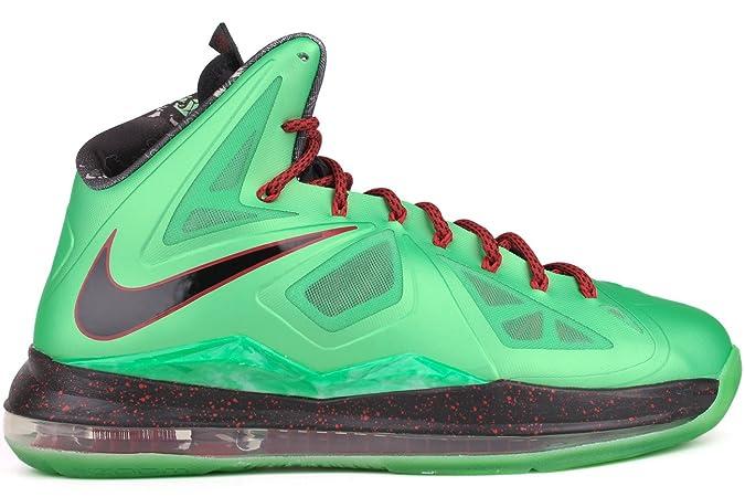 newest aff71 b6590 Amazon.com   Nike Lebron X China Jade Men s Basketball Shoes Green Black Red    Basketball