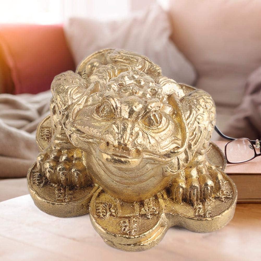 2 HEEPDD Sapo Dorado lat/ón Sapo Dorado de Tres Patas Estatuilla Feng Shui Chino Rana de Dinero Rana de la Suerte Decoraci/ón de la Tienda Tienda de Regalos Regalo de Apertura