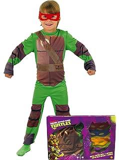 Disfraz de Tortuga Ninja para niños, talla infantil 7-8 años ...