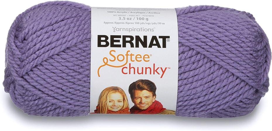 Bernat Yarn Softee Chunky Lana, 100% acrílico, Morado Claro, 1 Pack: Amazon.es: Hogar